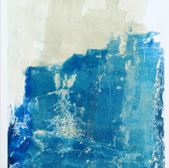 """ Série bestiaire 14 "" Arpaillargues, 2012, monotype, on handmade paper 1200 gr, 48 X 35 in, 120 X 86 cm, Editions Jacques Berville"