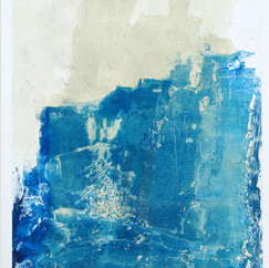 """"""" Série bestiaire 14 """" Arpaillargues, 2012, monotype, on handmade paper 1200 gr, 48 X 35 in, 120 X 86 cm, Editions Jacques Berville"""