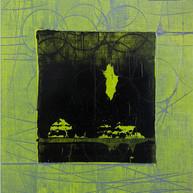 """""""Fin d'été 05"""" 2018, London, oil paint on paper, 16.1,2 X 12.1,4 in, 41 X 33 cm."""