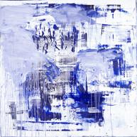 """""""Sans Titre 02_2017"""", London, Oil paint on linen, 80 X 80 in, 200 X 200 cm."""
