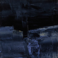 """ Entre deux, Canyon,"" 2015, London, oil paint on wood, 12 X 12 in, 30 X 30 cm."