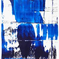 """"""" Thème, variations et résonances 125 """" London 2017,  oil on canvas mounted on panel, 34 X 26 in, 85 X 65 cm."""