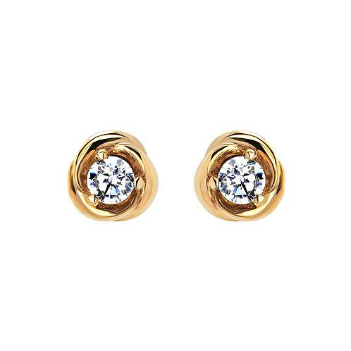 Серьги с бриллиантами. Модель А29