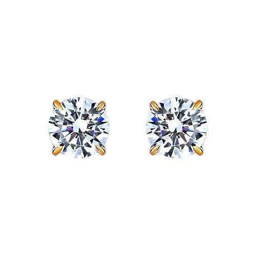 Серьги с бриллиантами. Модель А28