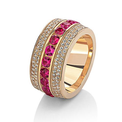Кольцо с рубинами и бриллиантами WRC4