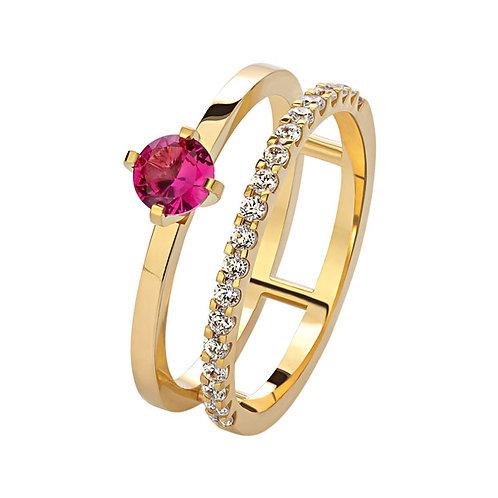 Кольцо с рубином и бриллиантами. Модель AWS4