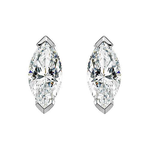 Серьги с бриллиантами. Модель MARKIZ6