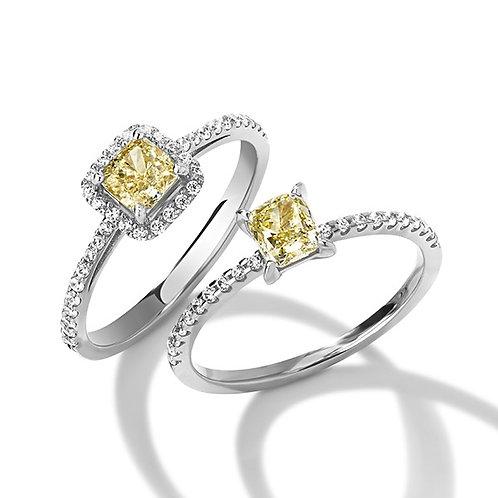 Помолвочные кольца с желтыми бриллиантами