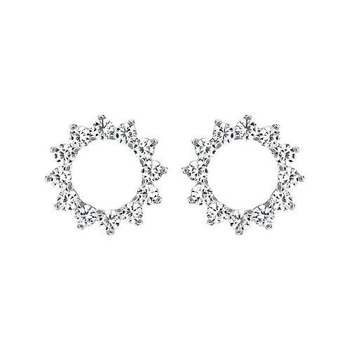 Серьги с бриллиантами. Модель А14
