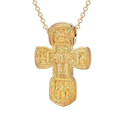 Крест из золота. Модель KR3