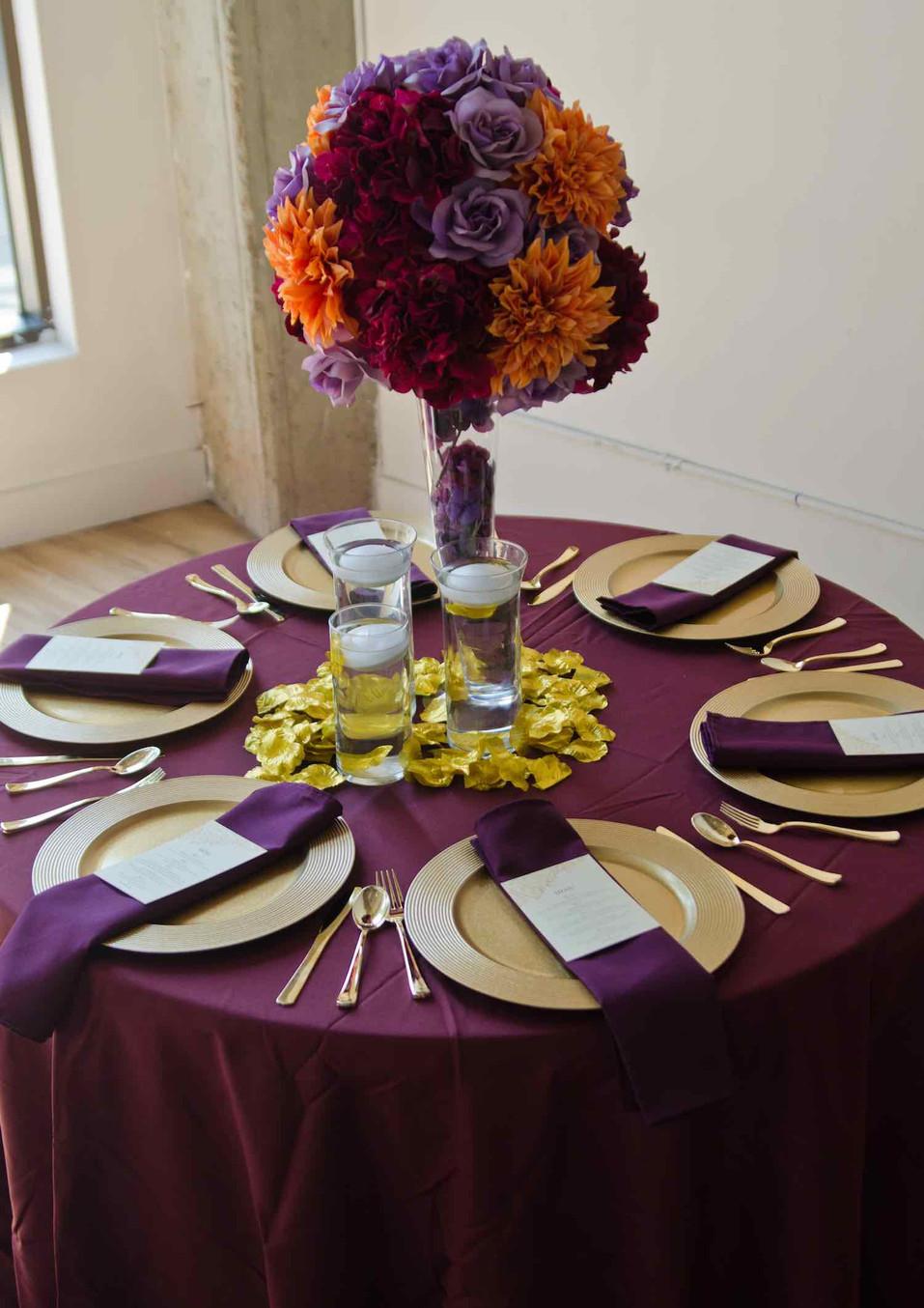 atlanta flower table arrangement event p