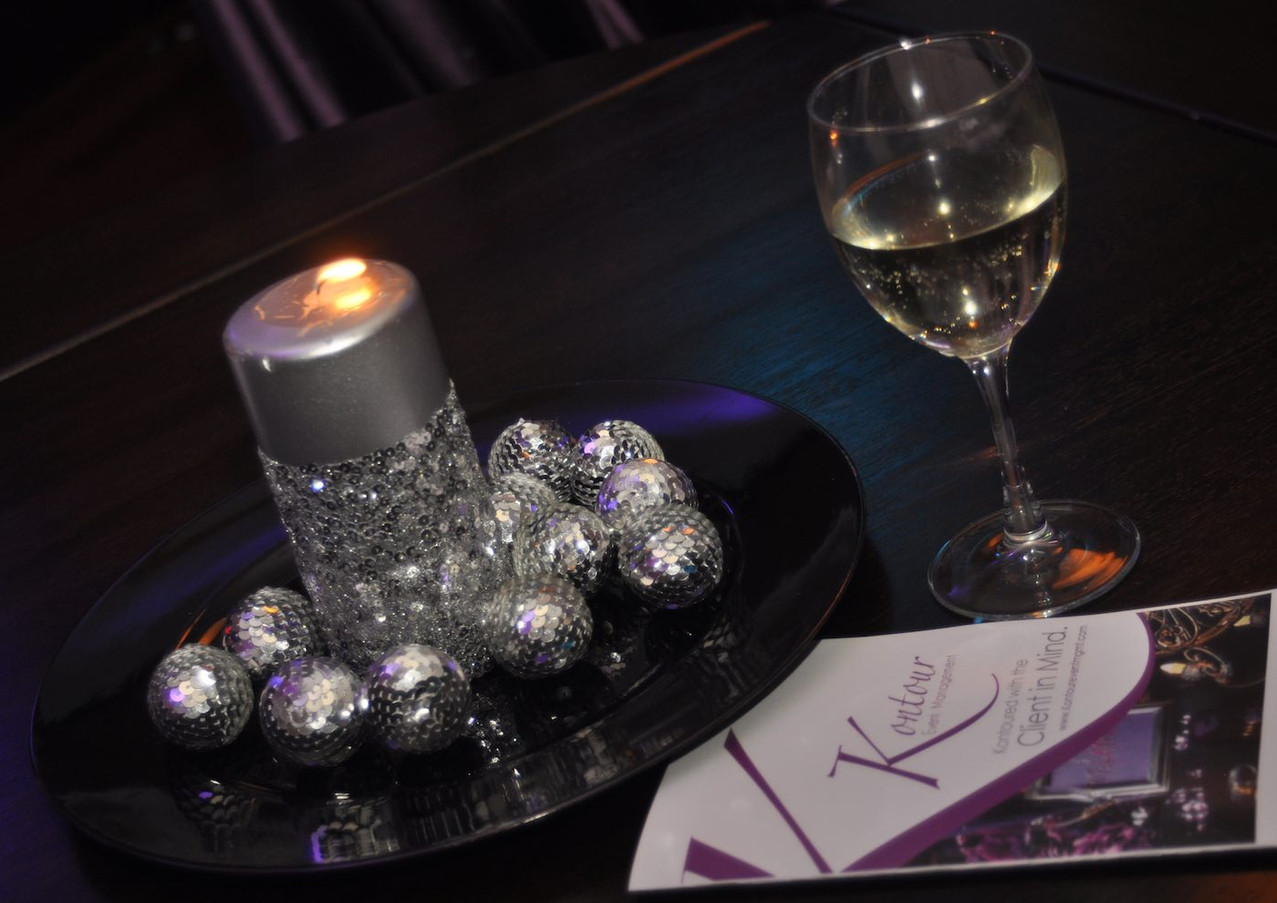 candle table top decor atlanta event pla
