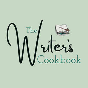 The Writer's Cookbook logo; a writing resource website with writing courses and blog posts on writing.