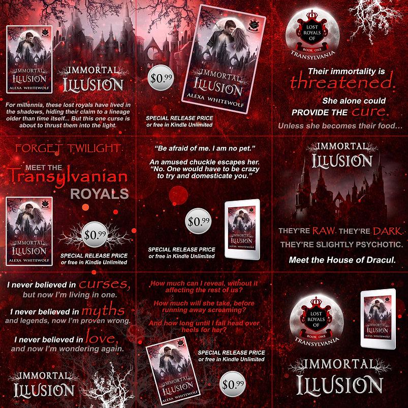 vampire paranormal romance collage