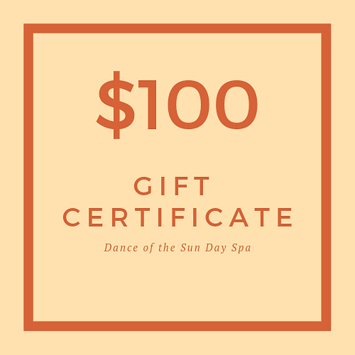 $100 Dance of the Sun Gift Certificate