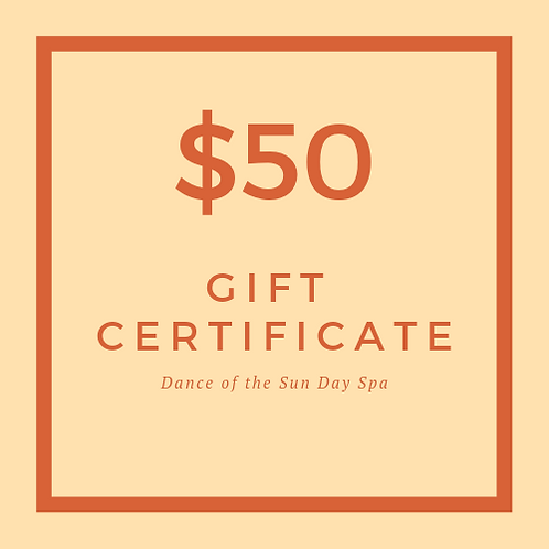 $50 Dance of the Sun Gift Certificate