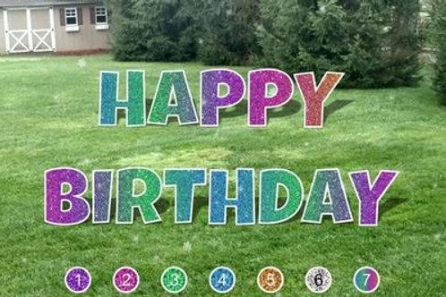 Happy Birthday Letter Set