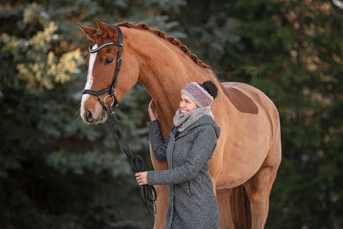 Pferd- Menschfotografie