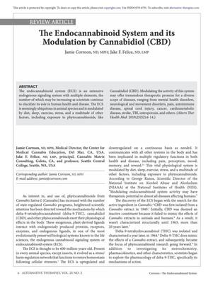 The Endocannabinoid System and its Modulation by Cannabidiol (CBD)
