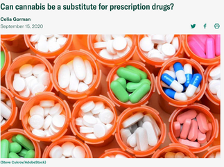 Can cannabis be a substitute for prescription drugs?