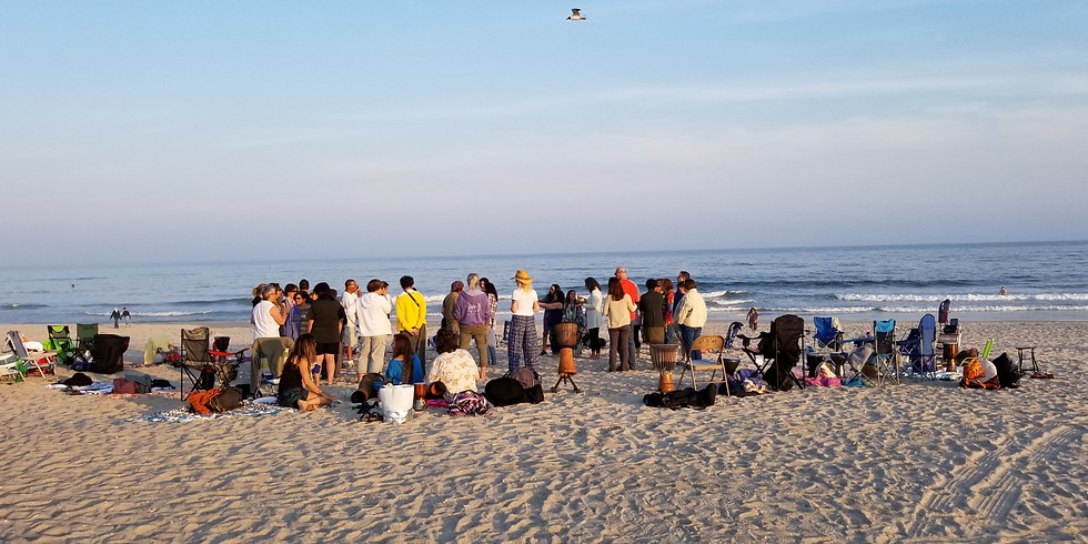 Full Moon Drum Circle on the Beach - Acro yoga + Fire Spinning