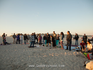 "Our ""Strawberry"" Full Moon Circle with Soulfire and Drumming opened our Series of Beach Ci"