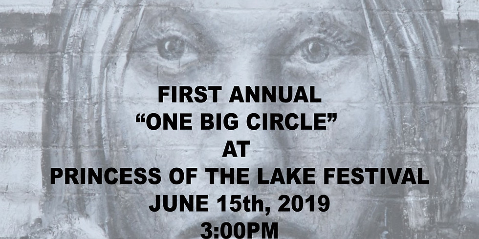 """The First """"ONE BIG DRUM CIRCLE"""" at the Princess of the Lake Festival"""