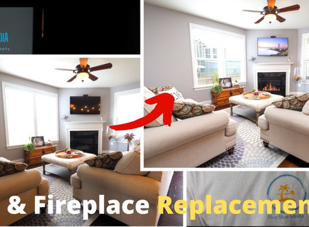 TV and Fireplace Replacements | Real Estate Marketing