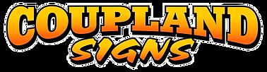 Coupland signs Yellow & Orange Logo.png