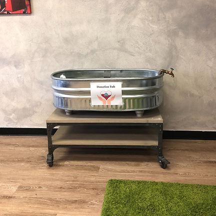 donation tub