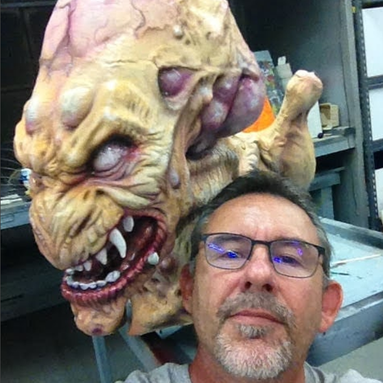 Chuck Coupland with Pumpkinhead Restoration Project.