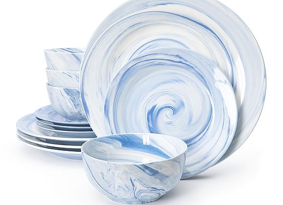 Divitis FUSION 12-Piece Porcelain Dinnerware Set
