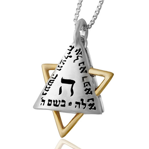 King Solomon Jewelry Gold Silver Shield Of Elijah Pendant For Evil Protection