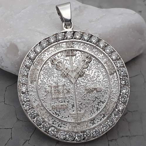 Jupiter Medal for money handmade pentacle 4th & 2th silver .925