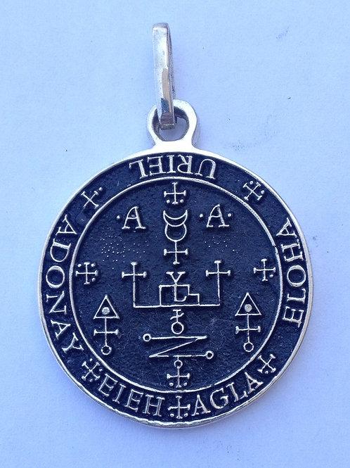 Saint Uriel & Saint Michael seals medal Silver .925