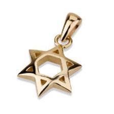 Star of David Handmade Solid Gold 14 K