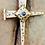 Thumbnail: Rugged Three Nail Cross Stanhope Prayer Pendant hand made Gold 10K with Amethyst
