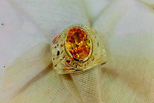 Jupiter Ring Infinite Wealth handmade Gold 22K Yellow Sapphire