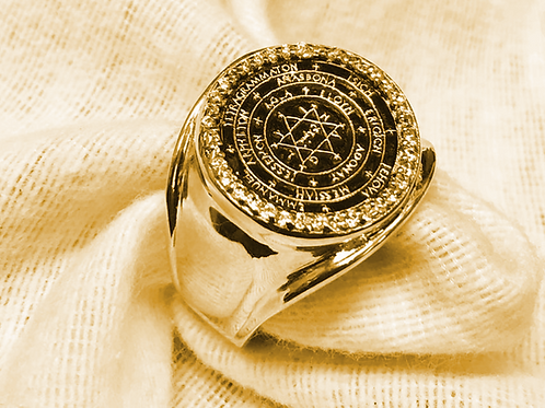 22K The Great Seal Ring of Solomon King handmade Gold 22K