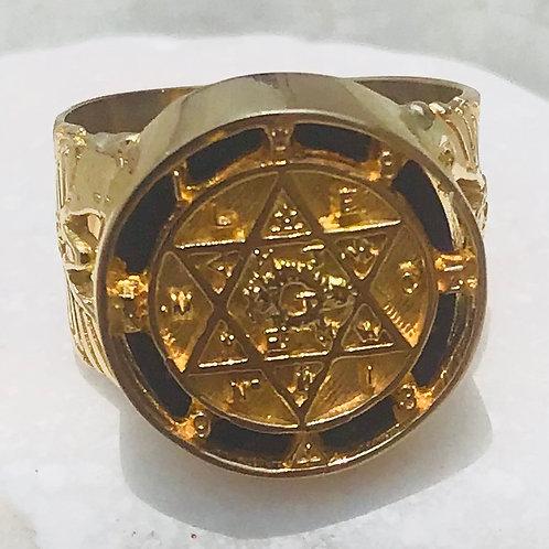The King Solomon Lapislázuli Ring handmade Gold 14K