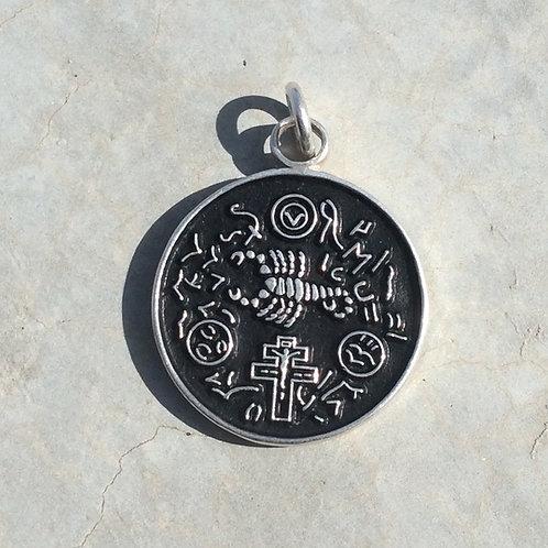Amulet Exterminator Of Saint Cyprian handmade Silver .925