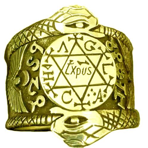 SolomonMedieval Ring handmade Gold 10K