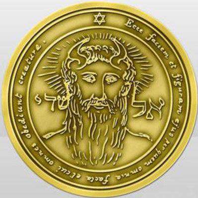 King Solomon seal The first Pentacle of the Sun handmade Gold 22K