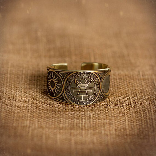 Secret Seal of Solomon adjustable ring Lesser Key of Solomon Seal kabbalah