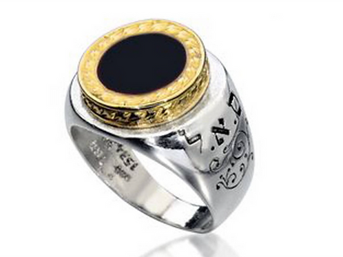 Solomon ring for Protect your Wealth and Health Gold / Silver With Onix