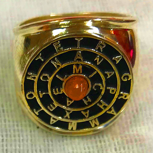Tetragrammaton Gold Ring 10K