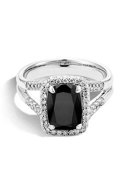 Onyx Spectacular with Diamonds hand made White Gold
