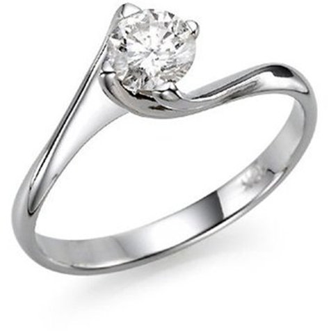 Solitaire Engagement Ring SR-001 With White Gold Setting 14Kt