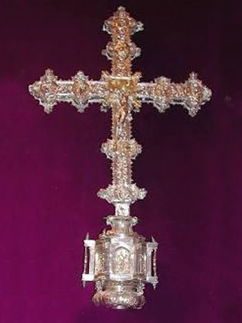 Saint Bartolome Cross Evil Protection handmade Silver .925