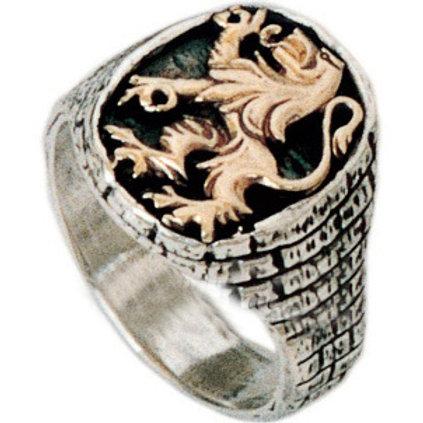 Lion Of Judah King Ring Gold & Silver